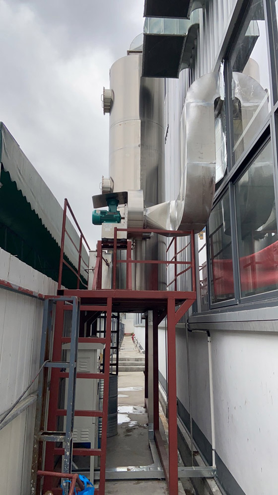 东莞某动力电池厂NMP吸收塔