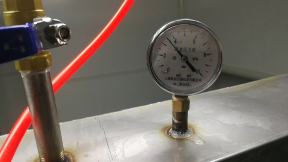 恒大新能源NMP易胜博大小球开盘思维设备不锈钢风管打压测试中
